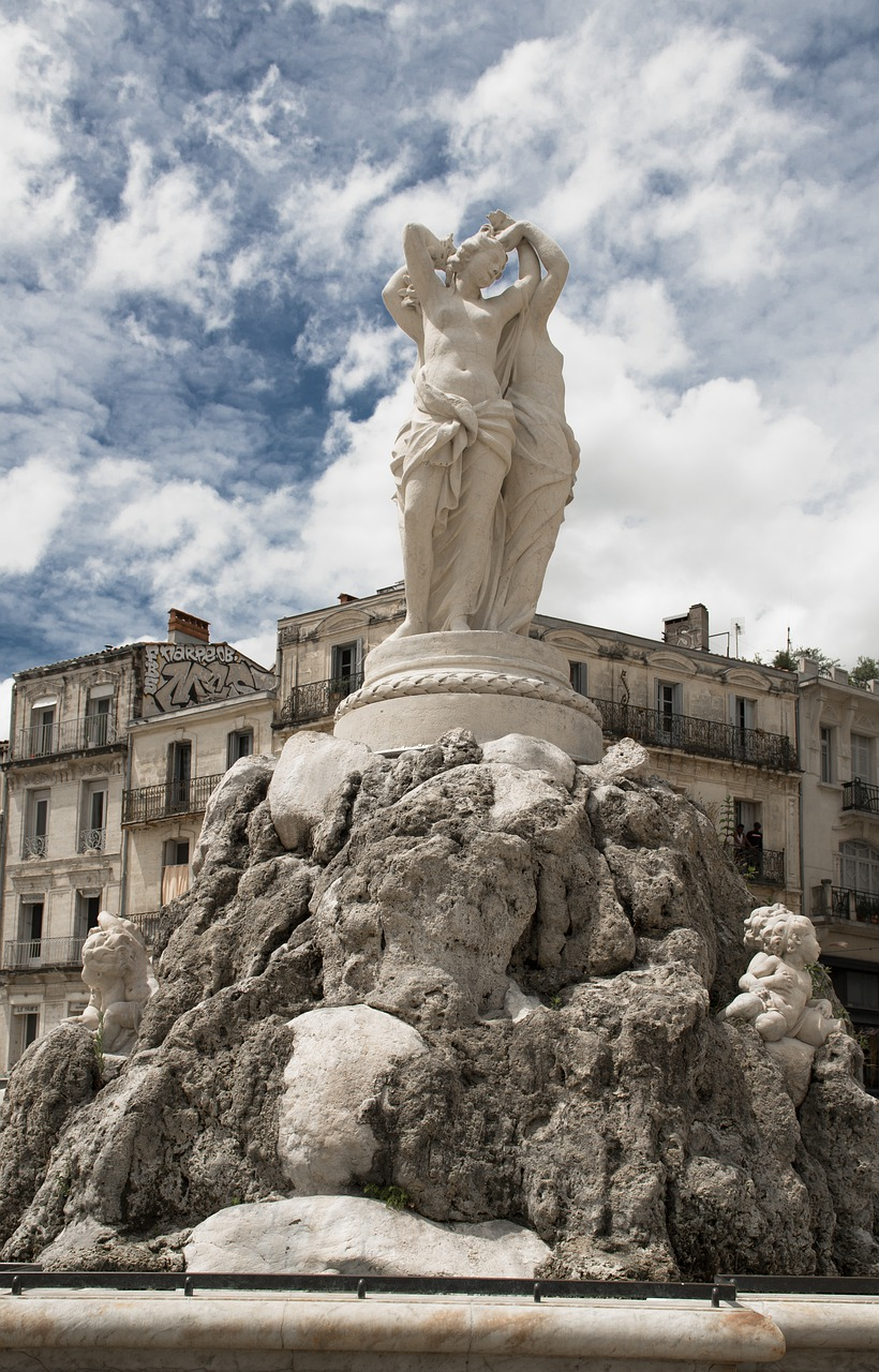 Montpellier Fountain Statue  - jackmac34 / Pixabay
